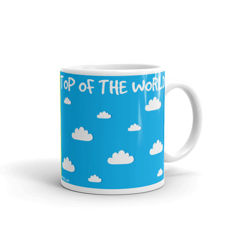 17A018PMUG - Down to earth top of the world picture mug