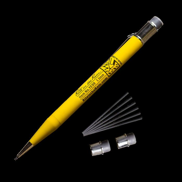 Mechanical Pencil, 1.1mm Black Lead, 7 Leads, 3 Erasers, Waterproof Notepads, Rite in the Rain, [shop_ Direct Lighting Outdoor Lifestyle]