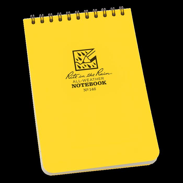"4"" x 6"" Top Spiral Notebook, Polydura Cover, 100 Pages, Universal Pattern, Waterproof Notepads, Rite in the Rain, [shop_ Direct Lighting Outdoor Lifestyle]"