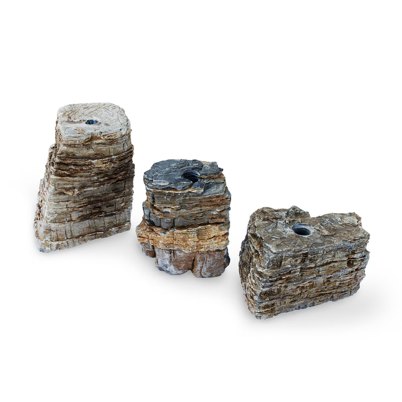 Pagoda Fountain Rocks Set of 3 Landscape Fountain Kit