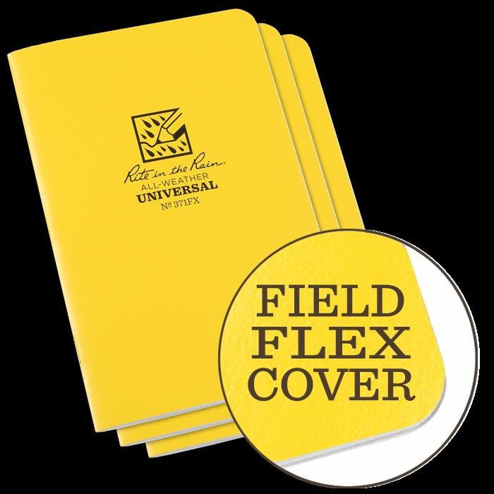 "4-5/8"" x 7-1/4"" Field Book, Field-Flex Cover, 128 Pages, Universal Pattern, Waterproof Notepads, Rite in the Rain, [shop_ Direct Lighting Outdoor Lifestyle]"