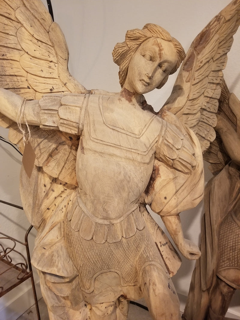 Hand carved angel, Ancient Artifacts, Fredericks, [shop_ Direct Lighting Outdoor Lifestyle]