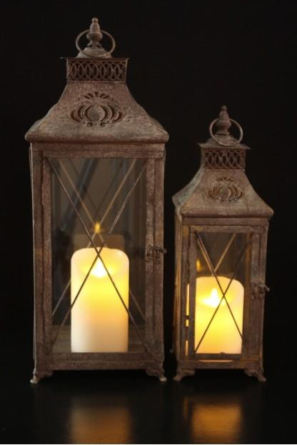 Country Cottage Lanterns (Set of 2)