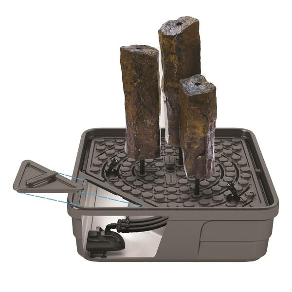 Mongolian Basalt Columns Set of 3 Landscape Fountain Kit
