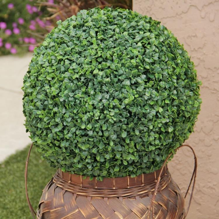 "Artificial Outdoor Boxwood Ball Uv 19"" Oball20"