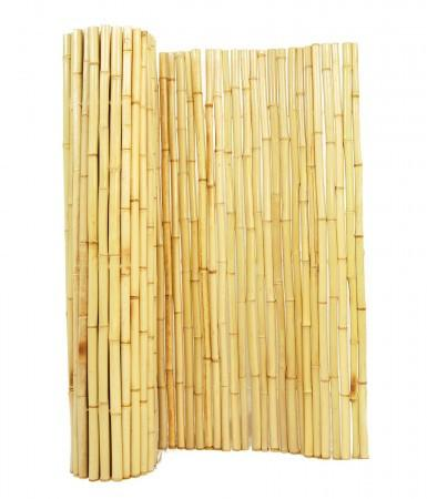 Natural Bamboo Fencing Rolls  1in D X 6ft H X 8ft L