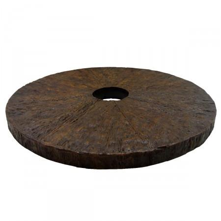 Rustic Wood Fiberglass Table-36in Diameter