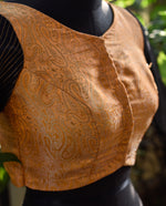 Brocade Blouse ~ Copper gold& Black