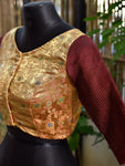 Brocade Blouse ~ Copper & Maroon
