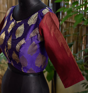 Brocade ~ Purple & Maroon