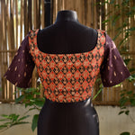 Brocade Blouse ~ Red & Brown