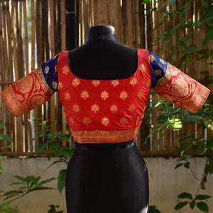 Brocade Blouse ~ Red & Blue