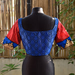 Brocade Blouse ~ Blue & Red