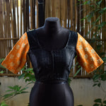 Brocade Blouse ~ Black & Orange