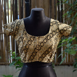 Brocade Blouse ~ antique Matte Gold & Black ~ 2