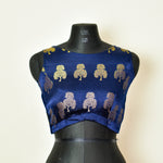 Brocade Blouse ~ Dark Blue ~ 1