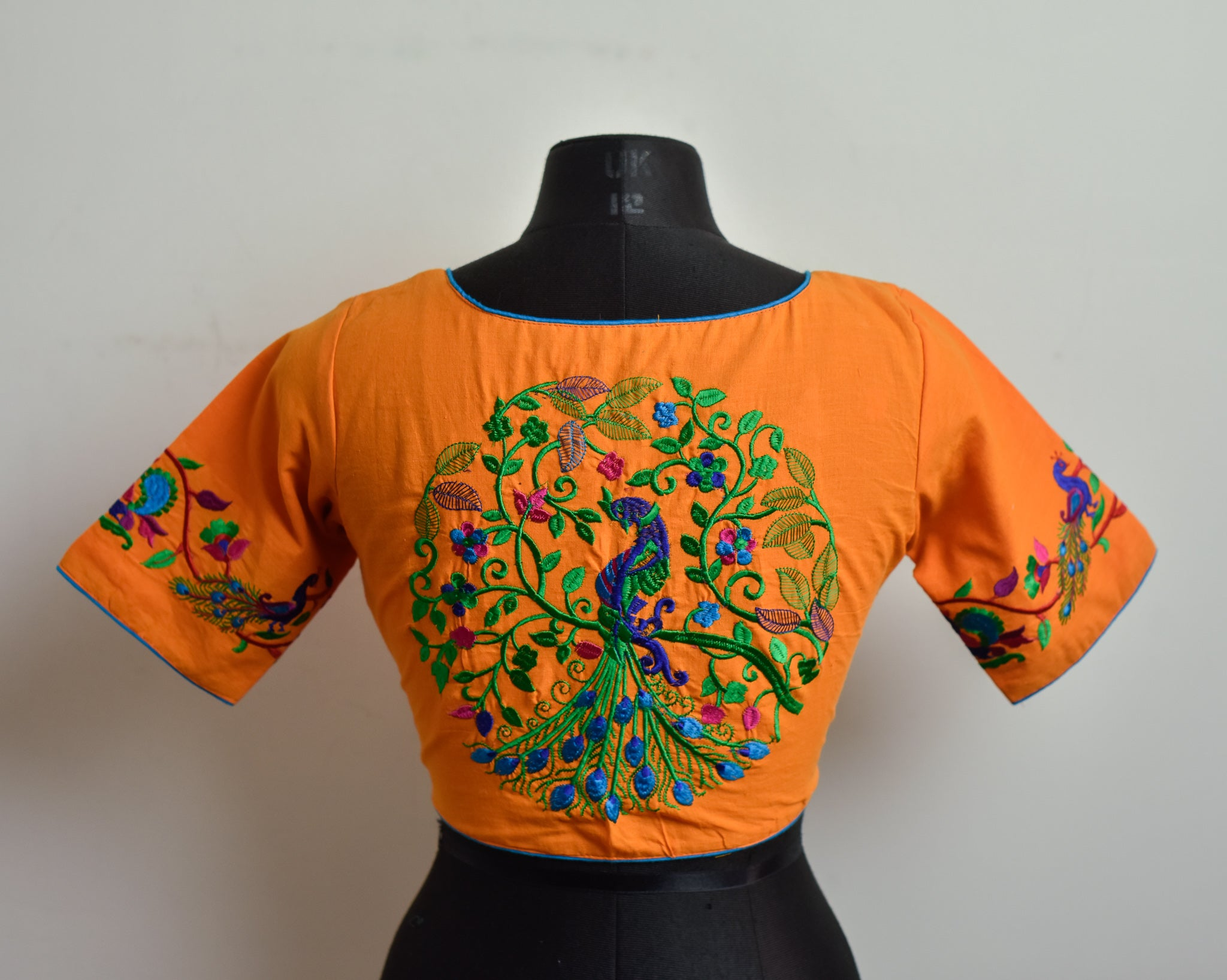 Mango Cotton Embroidered Blouse