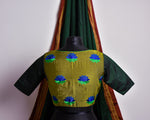 PERSIAN BLUE AND LIME LOTUS KHUN BLOUSE