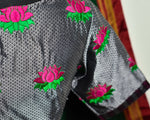 SILVER AND MAGENTA KHUN BLOUSE