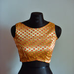 Brocade Blouse ~ Orange