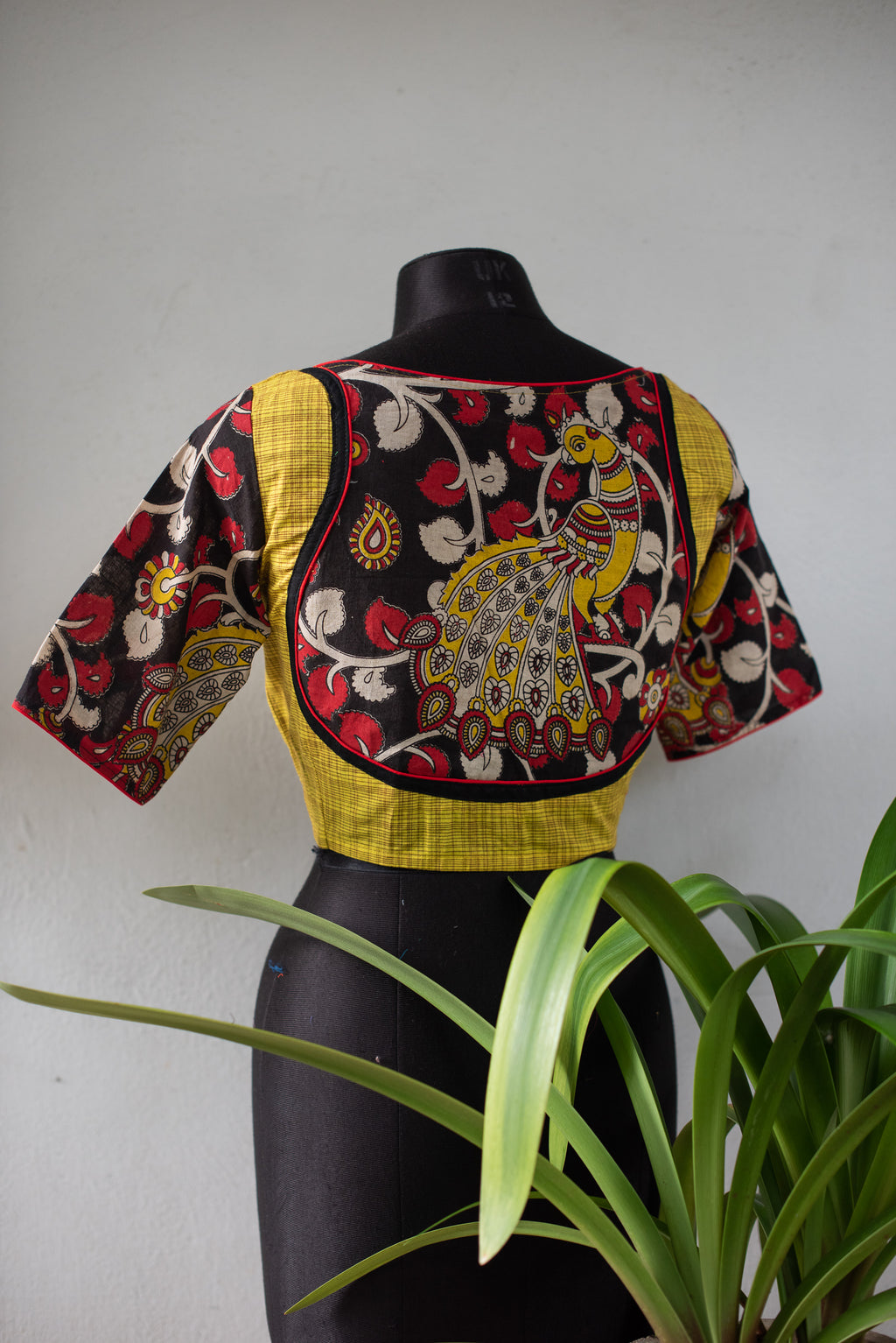 Fusion - Kalamkari & Checks - Yellow
