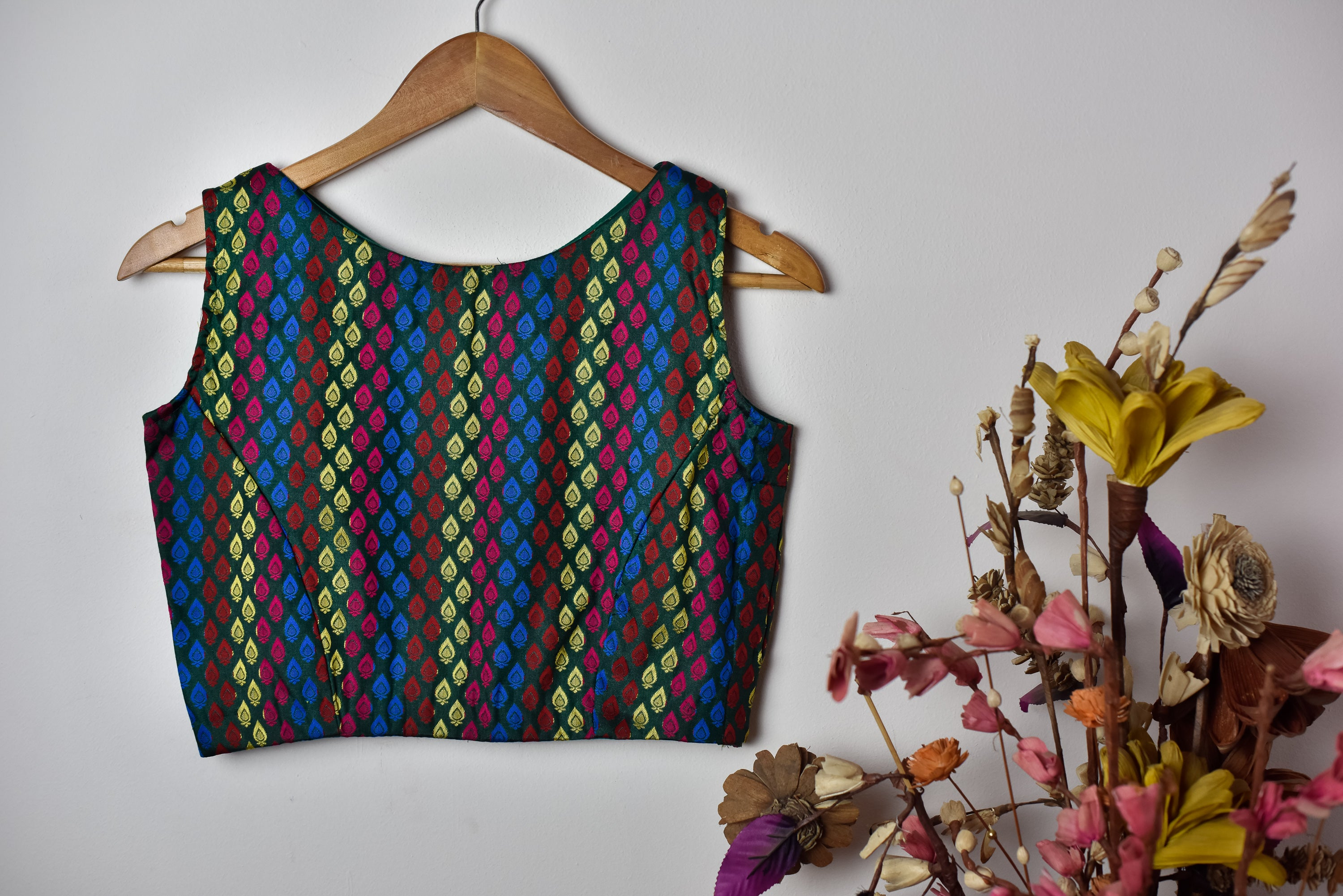 Brocade Blouse | Sleeveless ~ Multicolour