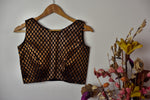 Brocade Blouse | Sleeveless ~ Bronze
