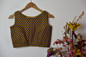 Brocade Blouse | Sleeveless ~ Honey Mustard