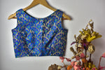 Brocade Blouse | Sleeveless ~ Blue Delight