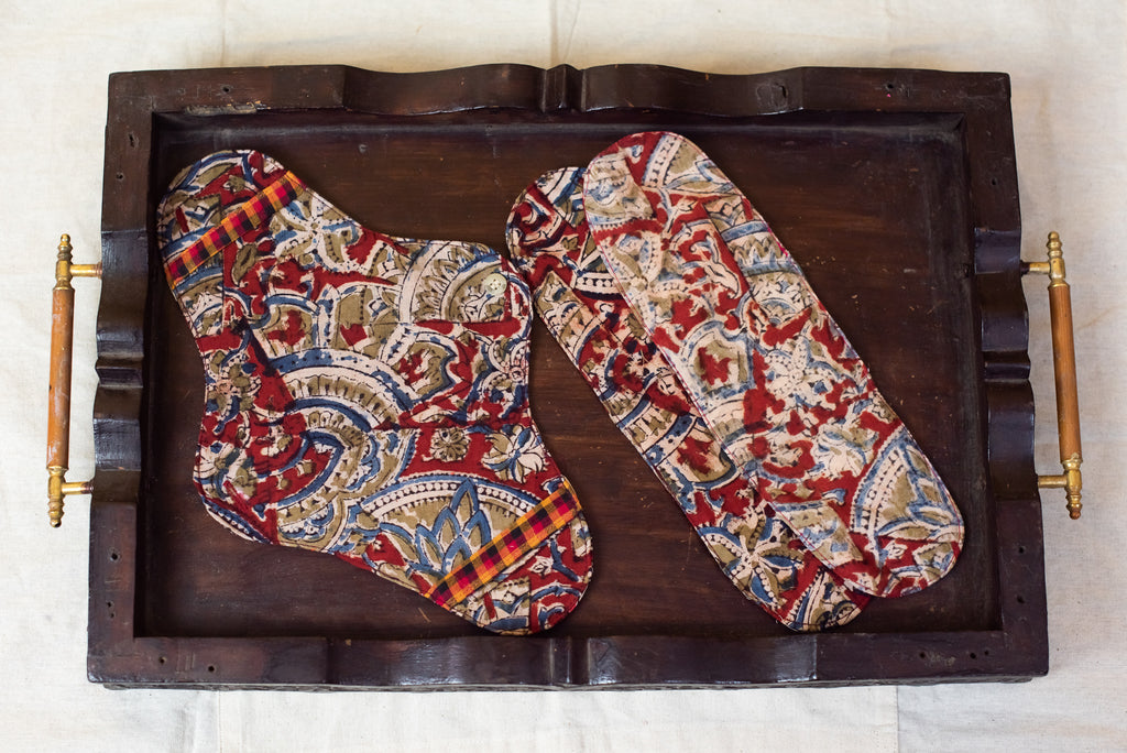 Brown Kalamkari Cloth Pad