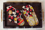 Black & Red Kalamkari Cloth Pad