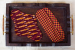 Maroon Ikat Cloth Pad