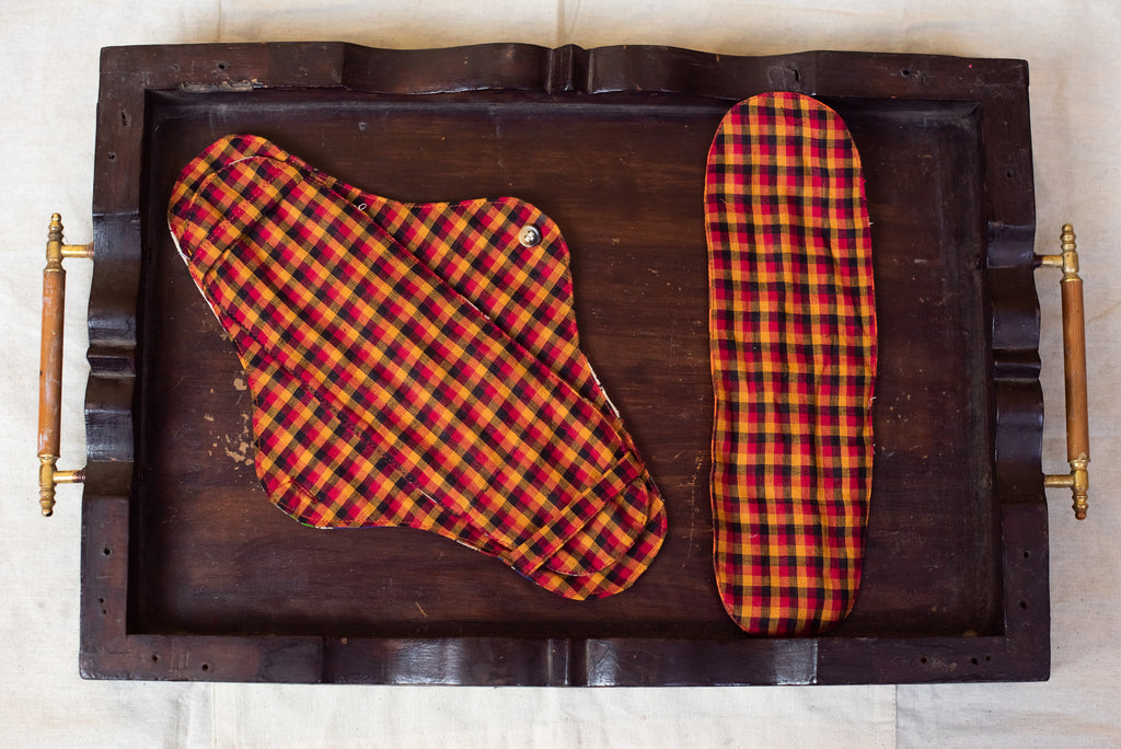 Orange Checkered Cloth Pad