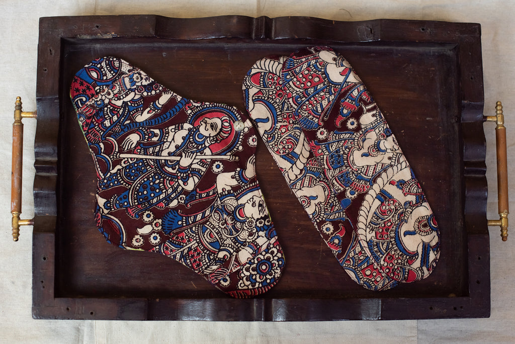 Dark Brown Kalamkari Cloth Pad 2