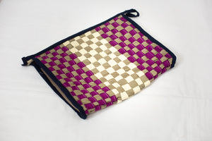 Magenta & Cream Toiletry Pouch