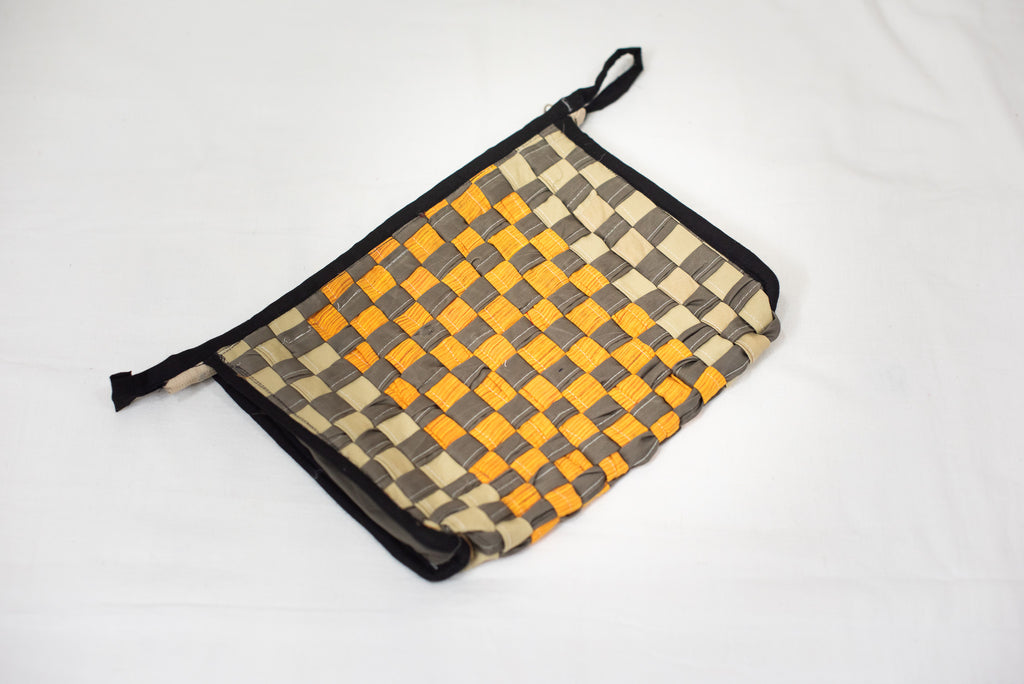 Cream & Mustard Toiletry Pouch