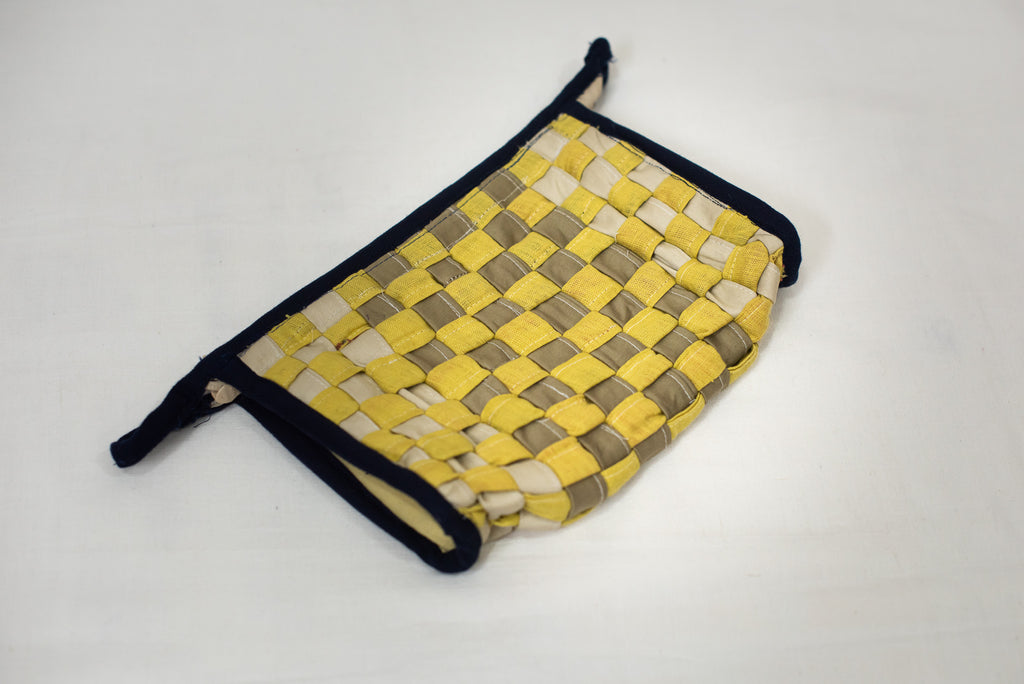 Yellow & Mustard Toiletry Pouch