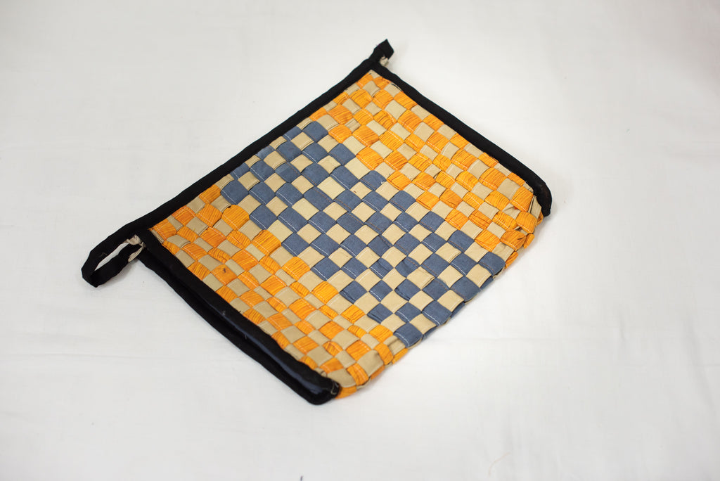 Mustard & Grey Toiletry Pouch