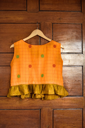 Yellow & Red Langa - Blouse