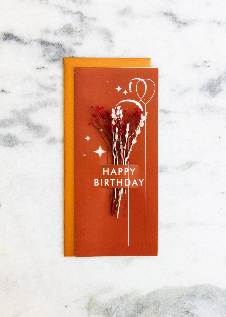 Happy Birthday | Dried Floral Greeting Card