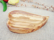 Hand Carved Wooden Heart Shaped Bowl  / Olive Wood Handcrafted Serving Bowl / Exotic Wooden Kitchen Bowl, Mom Gift