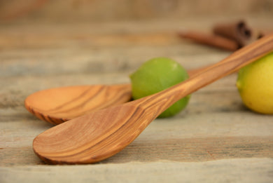 Wooden Eating Spoon Set 7 inch long / Olive Wood Small Kitchen Utensils set / Ice-cream Spoon