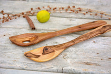 Olive Wood large spoon set for sauces, Wooden sauce spoon set, Risotto Spoon, Wedding gift
