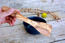 Olive Wood Small Spatula 10 Inch, Kitchen Cooking Serving Spatula, Kitchen Utensil Tool, Mom Gift