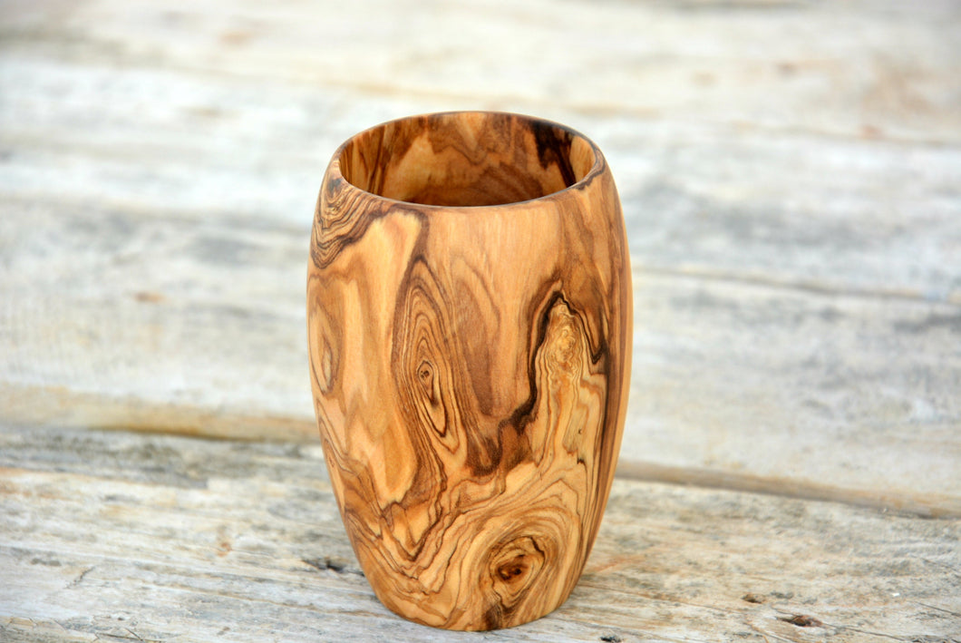 Olive Wood Goblet Cup Mug, Wooden Rustic Cup, Wood napkin holder, Gift, Holiday Gifts