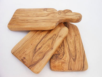 Olive Wood Rustic Cheese Cutting Board Set / Wooden Chopping Board 9.4 X 4.2 inches, Wedding Gift