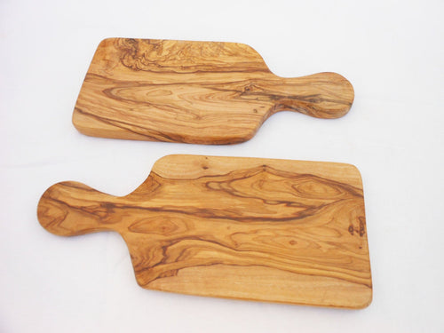 Olive Wood Rustic Cheese Board Set / Wooden Cutting Board  9.8 Inch X 4.3 Inch, Wedding Gift