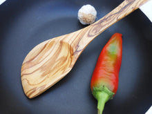 Engraved Olive Wood Medium Sauce Spatula Spoon from Olive Wood / Kitchen Cooking Utensil / Wedding Gift