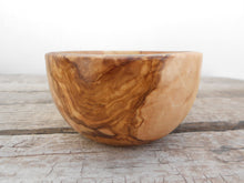 Engraved Handcrafted Wooden Bowl 4-inch Diameter, Hand carved Olive Wood rounded Rustic Bowl, Wedding Gift, Mom Gift