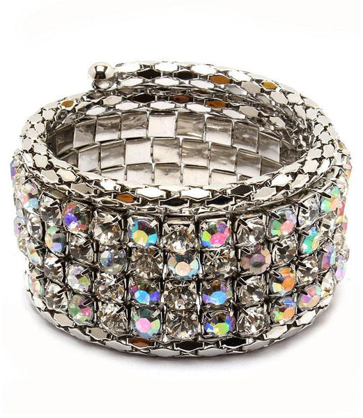 Rhodium Plated Crystal Bracelet